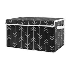 Black and White Woodland Arrow Boy Small Fabric Toy Bin Storage Box Chest For Baby Nursery or Kids Room by Sweet Jojo Designs - for the Rustic Patch Collection