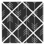 Black and White Woodland Arrow Fabric Memory Memo Photo Bulletin Board for Rustic Patch Collection by Sweet Jojo Designs