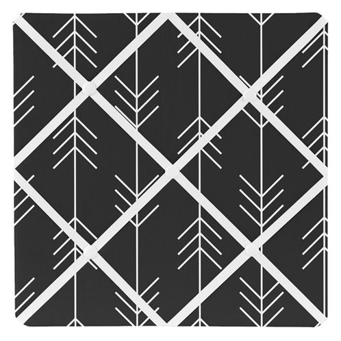Black and White Woodland Arrow Fabric Memory Memo Photo Bulletin Board for Rustic Patch Collection by Sweet Jojo Designs - Click to enlarge