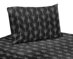 Black and White Woodland Arrow Queen Sheet Set for Rustic Patch Collection by Sweet Jojo Designs - 4 piece set