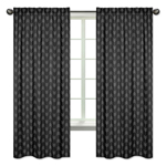 Black and White Woodland Arrow Window Treatment Panels Curtains for Rustic Patch Collection by Sweet Jojo Designs - Set of 2