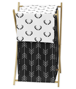 Black and White Woodland Deer Baby Kid Clothes Laundry Hamper by Sweet Jojo Designs - Rustic Country Farmhouse Lumberjack Arrow