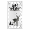 Black and White Woodland Deer Boy Fitted Crib Sheet Baby or Toddler Bed Nursery Photo Op by Sweet Jojo Designs - Buffalo Plaid Check Rustic Country Farmhouse Lumberjack