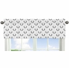 Black and White Woodland Deer Window Treatment Valance by Sweet Jojo Designs - Rustic Country Farmhouse Lumberjack