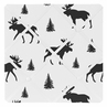 Black and White Woodland Moose Fabric Memory Memo Photo Bulletin Board for Rustic Patch Collection by Sweet Jojo Designs