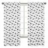 Black and White Woodland Moose Window Treatment Panels Curtains for Rustic Patch Collection by Sweet Jojo Designs - Set of 2