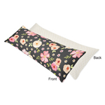 Black, Blush Pink and Gold Polka Dot Body Pillow Case Cover for Watercolor Floral Collection by Sweet Jojo Designs (Pillow Not Included) - Rose Flower