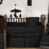 Black Diamond Jacquard Modern Baby Bedding - 9pc Crib Set by Sweet Jojo Designs