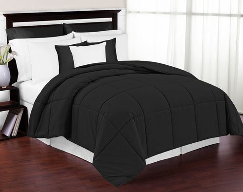 Black Down-Alternative Comforter<br> Available in Twin, Queen & King Sizes - Click to enlarge
