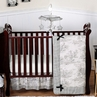 Black French Toile Baby Bedding - 11pc Crib Set