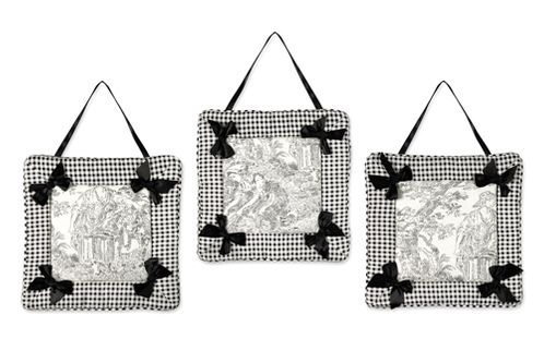 Black French Toile Wall Hangings - Click to enlarge