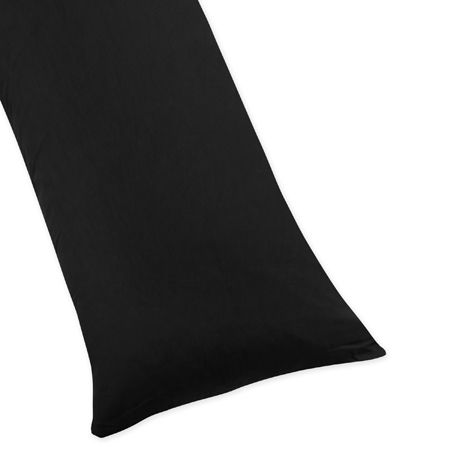 Black Full Length Double Zippered Body Pillow Case 100% Cotton by Sweet Jojo Designs - Click to enlarge