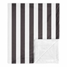 Black Stripe Baby Boy Girl Receiving Security Swaddle Blanket for Newborn or Toddler Nursery Car Seat Stroller Soft Minky by Sweet Jojo Designs - Black and White Paris Gender Neutral
