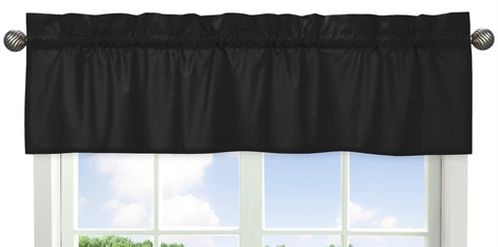 Black Window Valance by Sweet Jojo Designs - Click to enlarge