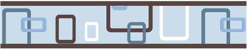 Blue and Brown Geo Baby and Childrens Modern Wall Border by Sweet Jojo Designs - Click to enlarge