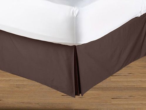 Blue and Brown Geo Collection Bed Skirt - Solid Brown - Queen Size - Click to enlarge