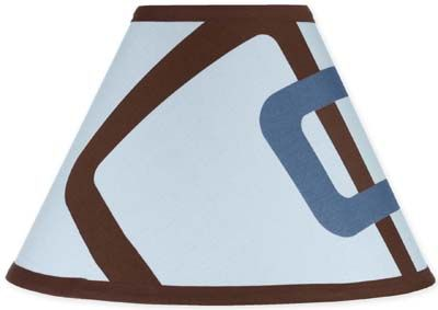 Blue and Brown Geo Lamp Shade by Sweet Jojo Designs - Click to enlarge