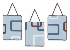 Blue and Brown Geo Wall Hanging Accessories by Sweet Jojo Designs