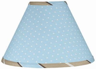 Blue and Brown Mod Dots Lamp Shade by Sweet Jojo Designs - Click to enlarge