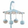 Blue and Brown Mod Dots Musical Crib Mobile by Sweet Jojo Designs