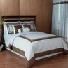 Blue and Chocolate Hotel Spa Collection Duvet Cover 6-pc Bedding Set