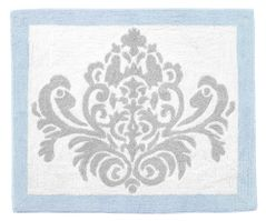 Blue and Gray Avery Accent Floor Rug by Sweet Jojo Designs