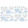 Blue and Gray Avery Peel and Stick Wall Decal Stickers Art Nursery Decor by Sweet Jojo Designs - Set of 4 Sheets