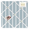 Blue and Green Argyle Fabric Memory/Memo Photo Bulletin Board