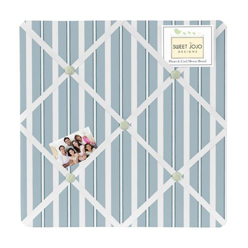 Blue and Green Argyle Fabric Memory/Memo Photo Bulletin Board - Click to enlarge