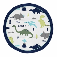 Blue and Green Dino Playmat Tummy Time Baby and Infant Play Mat for Mod Dinosaur Collection by Sweet Jojo Designs