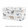 Blue and Grey Bear Deer Fox Boy Baby Nursery or Kids Room Small Fabric Toy Bin Storage Box Chest for Woodland Animals Collection by Sweet Jojo Designs