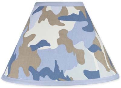 Blue and Khaki Camo Army Military Camouflage Lamp Shade by Sweet Jojo Designs - Click to enlarge