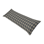 Blue and Tan Woodland Plaid Flannel Body Pillow Case Cover for Rustic Patch Collection by Sweet Jojo Designs (Pillow Not Included)