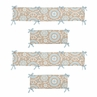Blue and Taupe Hayden Collection Crib Bumper by Sweet Jojo Designs