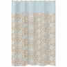 Blue and Taupe Hayden Kids Bathroom Fabric Bath Shower Curtain by Sweet Jojo Designs