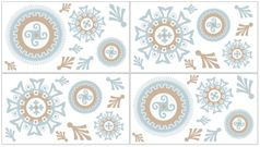 Blue and Taupe Hayden Peel and Stick Wall Decal Stickers Art Nursery Decor by Sweet Jojo Designs - Set of 4 Sheets