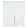 Blue and White Polka Dot Baby Girl Blanket Receiving Security Swaddle for Newborn or Toddler Nursery Car Seat Stroller Soft Minky by Sweet Jojo Designs - for the Navy and Blush Pink Shabby Chic Boho Watercolor Floral Rose Flower Collection