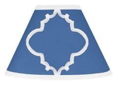 Blue and White Trellis Lamp Shade by Sweet Jojo Designs