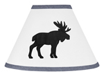 Blue, Black and White Woodland Moose Lamp Shade for Rustic Patch Collection by Sweet Jojo Designs