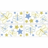 Blue Dragonfly Dreams Baby and Kids Wall Decal Stickers - Set of 4 Sheets