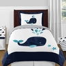 Blue Whale 4pc Twin Boy or Girl Bedding Set by Sweet Jojo Designs