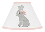Blush Pink and Grey Woodland Boho Lamp Shade for Gray Bunny Floral Collection by Sweet Jojo Designs
