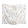 Blush Pink, Gold and Grey Star and Moon Wall Hanging Tapestry Art Decor for Celestial Collection by Sweet Jojo Designs - 50in. x 60in.