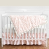 Blush Pink, Gold and White Amelia Baby Bedding - 11pc Girls Crib Set by Sweet Jojo Designs