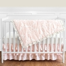 Blush Pink, Gold and White Amelia Baby Bedding - 4pc Girls Crib Set by Sweet Jojo Designs