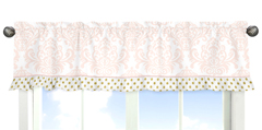 Blush Pink, Gold and White Amelia Collection Window Valance by Sweet Jojo Designs