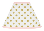 Blush Pink, Gold and White Amelia Lamp Shade by Sweet Jojo Designs