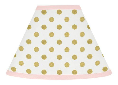 Blush Pink, Gold and White Amelia Lamp Shade by Sweet Jojo Designs - Click to enlarge