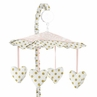 Blush Pink, Gold and White Amelia Musical Baby Crib Mobile by Sweet Jojo Designs
