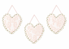 Blush Pink, Gold and White Amelia Wall Hanging Accessories by Sweet Jojo Designs